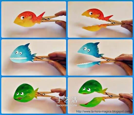 夹子手工创意做法图片大全 不仅是做成小动物 -  www.shouyihuo.com