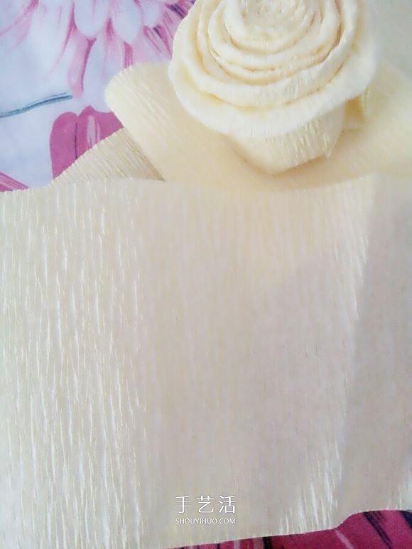 超像蛋糕的花朵!皺紋紙手工製作蛋糕花圖解