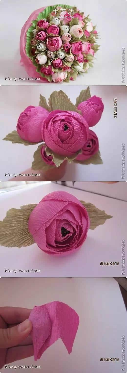皺紋紙花做法步驟大全 怎麼可以這麼美!