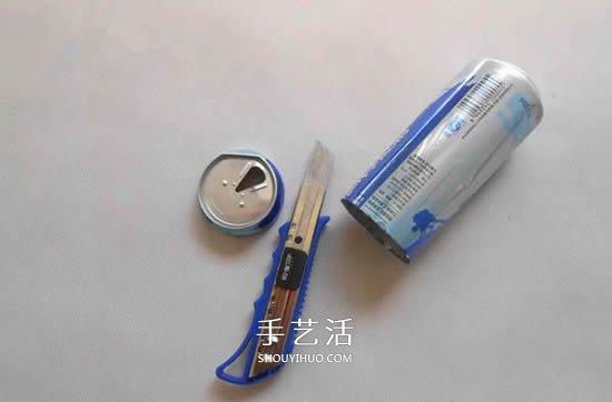 用易拉罐做灯罩 DIY制作简易台灯的方法教程 -  www.shouyihuo.com