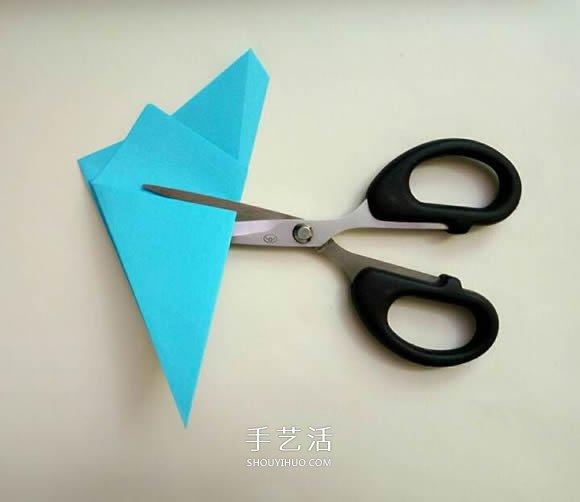 五个角的星星折纸图解 内外双五角星星的折法 -  www.shouyihuo.com