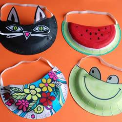 用纸盘做帽子的方法 幼儿园卡通纸盘帽子制作
