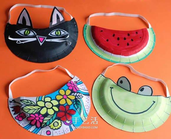 用紙盤做帽子的方法 幼兒園卡通紙盤帽子製作