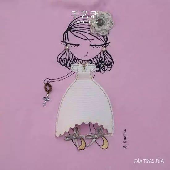 妈妈在女儿衣服上的创意画 小伙伴们都羡慕! -  www.shouyihuo.com