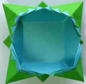 四角垃圾盒怎麼疊圖解 摺紙漂亮垃圾盒步驟圖