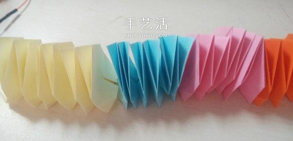 可以隨意翻內翻外!變換紙花球摺紙方法圖解