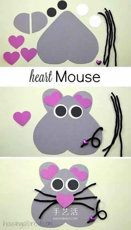 用卡纸做小动物的方法 自制卡纸动物图片大全 -  www.shouyihuo.com