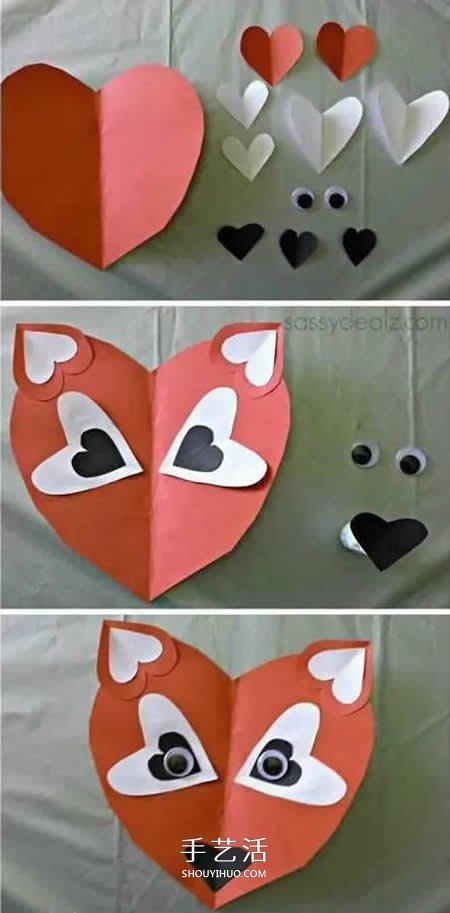 粘贴画图片大全卡纸图片_用卡纸做小动物的方法 自制卡纸动物图片大全_手艺活网