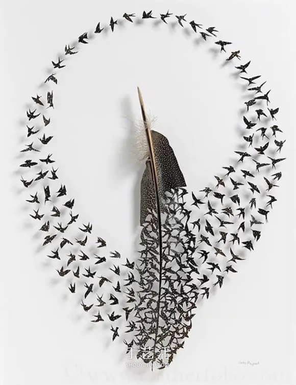 他用鸟毛进行雕刻 百万人争相收藏他的作品  -  www.shouyihuo.com