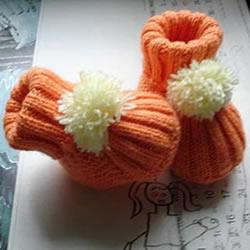 宝宝保暖鞋子的编织方法 可爱婴儿鞋编法图解