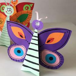 幼儿园春天手工制作 用卡纸做美丽的立体蝴蝶