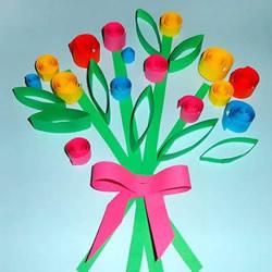 最简单的衍纸花束卡片 母亲节向妈妈表达感恩