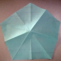 折纸基础教程:怎么用长方形纸做正五边形纸