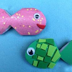 卫生纸筒做小鱼的方法 简单幼儿园废物利用DIY
