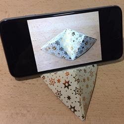 放手机的支架怎么折 简单折纸手机支架图解