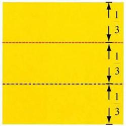 不借助工具 徒手折纸将整张纸三等分的方法