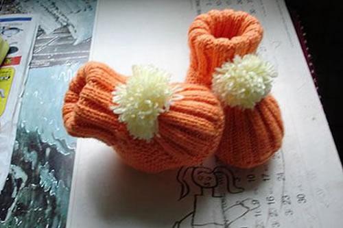 寶寶保暖鞋子的編織方法 可愛嬰兒鞋編法圖解