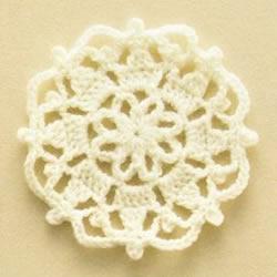 7种杯垫的钩织方法图解 做成雪花挂饰也好看