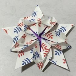 美丽樱花星星的折法图解 樱花五角星折纸步骤