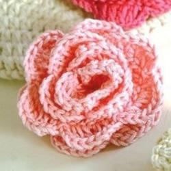 怎么编织玫瑰花的方法 钩针编织玫瑰花图解
