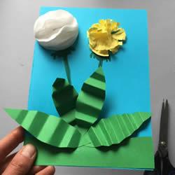 自制蒲公英卡片的方法 用卡纸做立体贺卡教程