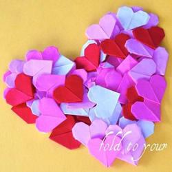 简单纸心的折法图解 DIY创意情人节表白爱心