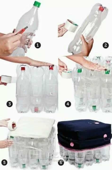 用塑料瓶做的小製作 凳子沙發垃圾桶隨便選