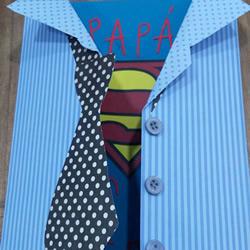 有创意的父亲节贺卡制作方法 原来爸爸是超人!