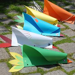 儿童简易风筝制作方法 用彩纸做小鸟风筝做法
