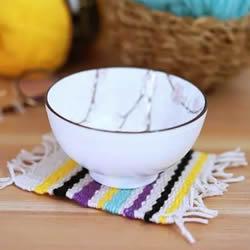 超简单杯垫的编织方法 小清新方形杯垫怎么编