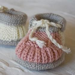 素雅的婴儿鞋编织图解 暖暖的保护好宝宝脚丫