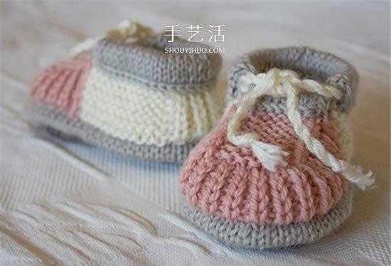 素雅的婴儿鞋编织图解 暖暖的保护好宝宝脚丫 -  www.shouyihuo.com