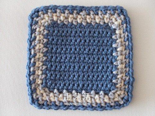 小清新毛線杯墊和杯套的手工編織方法圖解
