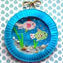 自制玩具水族箱的方法 儿童手工做鱼缸的教程