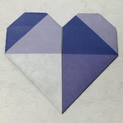 情人节基本款手工爱心的折纸方法图解步骤