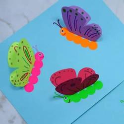 儿童用卡纸手工制作蝴蝶卡片的方法教程