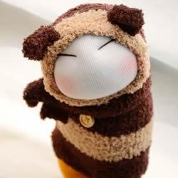 超可爱袜子娃娃作品图片 以及如何制作的教程