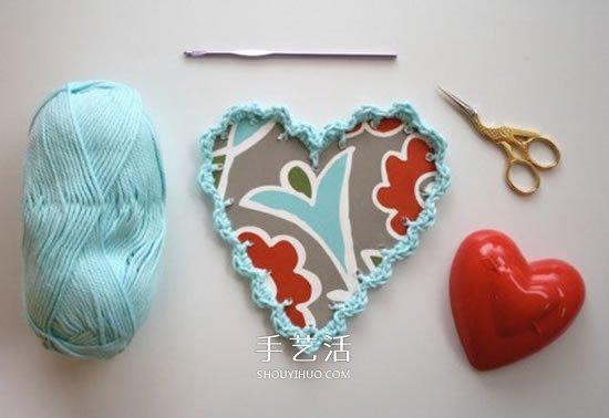 情人節鉤針編織送男友的毛線愛心禮物圖解