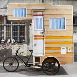 惊倒一片!开不起汽车房车 还有自行车房车!