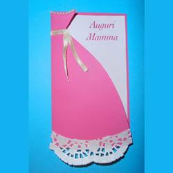 自制优雅漂亮的母亲节连衣裙贺卡的做法