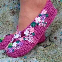 地板鞋的编织方法图解 棒针织地板袜子的织法
