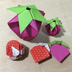 简单又可爱!两种草莓的折纸方法图解步骤