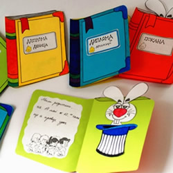 有创意的卡通贺卡手工制作 伪装成一本书!