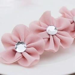 雪纺布花的制作方法 自制雪纺布花朵发夹