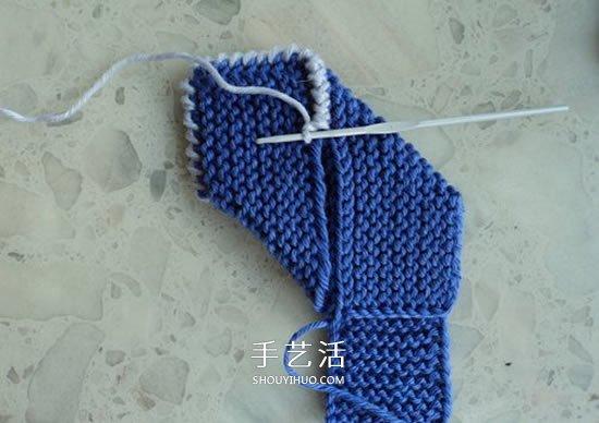兩種毛線搭配 手工編織漂亮地板鞋的織法圖解