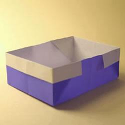 最简单纸盒的折法图解 收纳、装垃圾都用它!