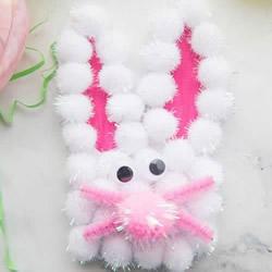 儿童手工制作复活节卡片 自制可爱兔子贺卡教程