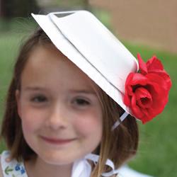 儿童手工制作法式礼帽 简单纸盘帽子的做