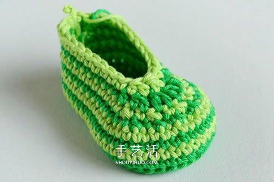 給腳踝也提供保暖!簡潔好看寶寶毛線鞋織法