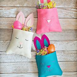 复活节兔子收纳袋DIY 手工兔子布袋的做法